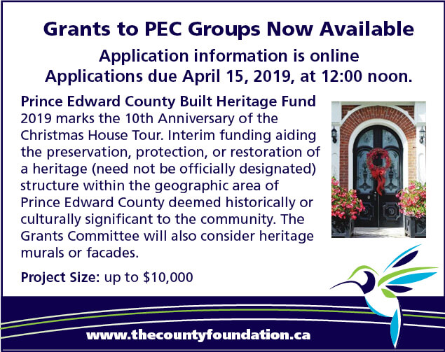 Applications are now available on our website. Applications are due April 15, 2019 at 12:00 noon. Project size up to $10,000